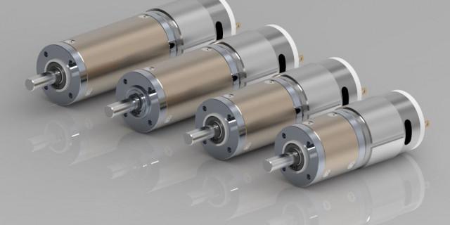 Motoriduttori epicicloidali diametro 28 a 12 e 24V C.C. Brushed